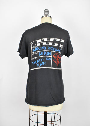 Rush Moving Pictures 1981 World Tour T-Shirt