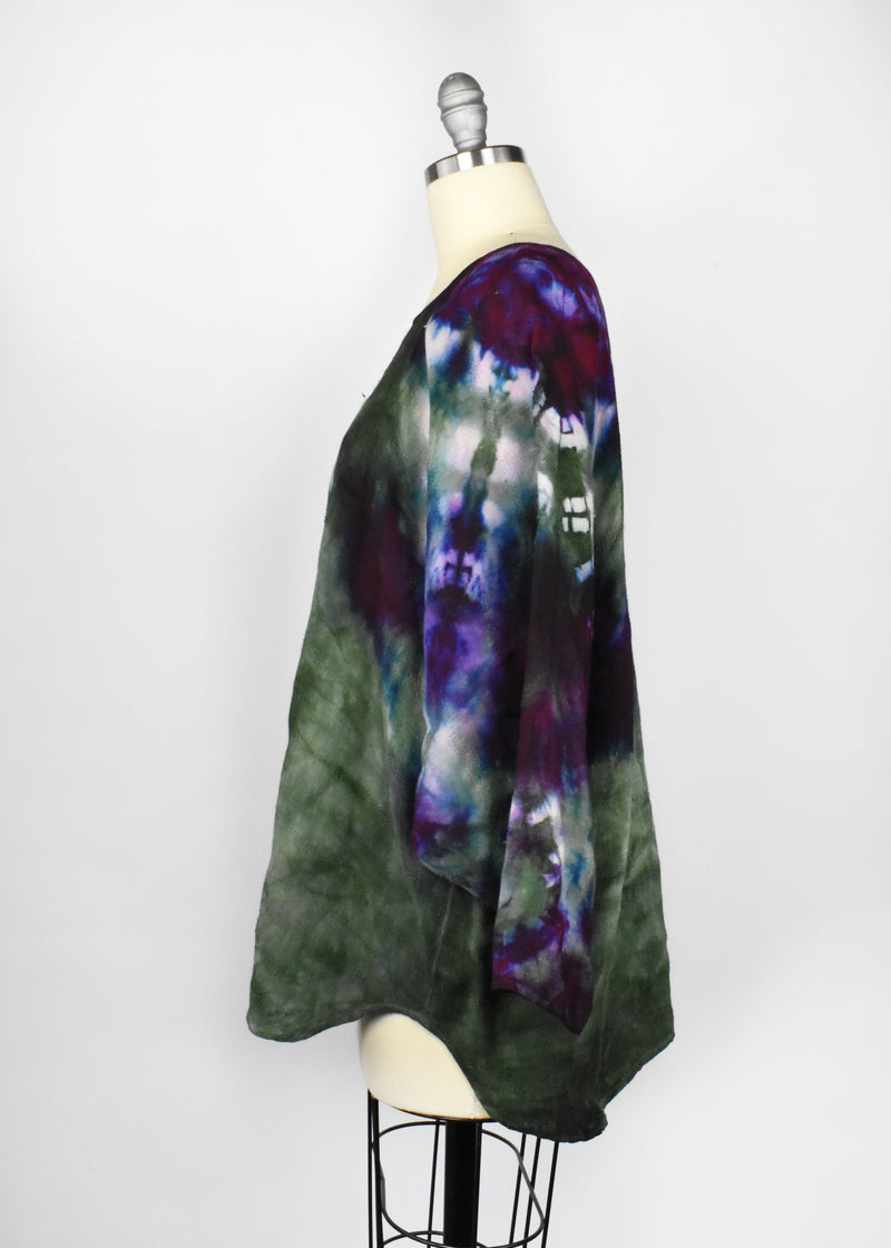 Vintage Tie Dye Dolman Long Sleeve Top