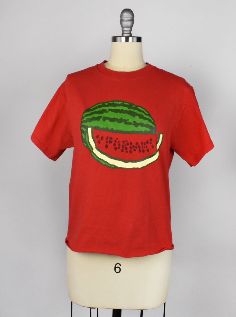 Vintage Cropped Red Watermelon T-Shirt