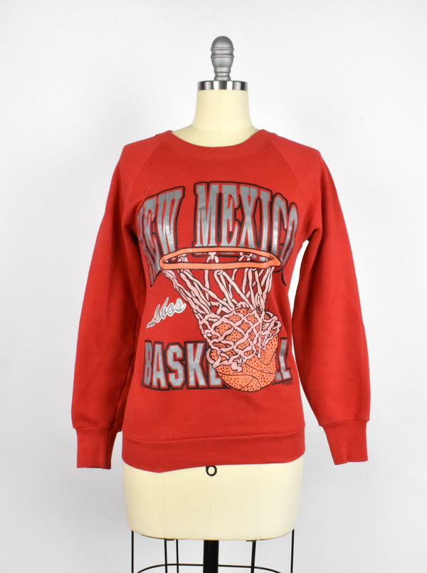 Vintage University of New Mexico Lobos Basketball Sweatshirt