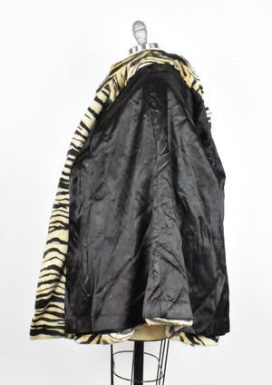 Faux Fur Tiger Print Coat