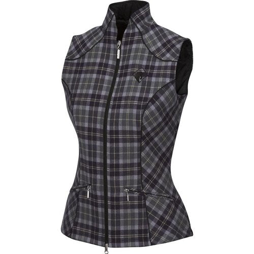 Arista Plaid Vest with Bit Detail
