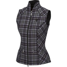Load image into Gallery viewer, Arista Plaid Vest with Bit Detail