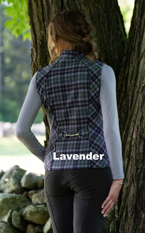 Lavender and slate plaid