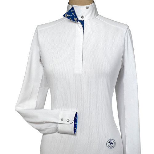 Essex Classics Talent Yarn Long Sleeve Shirt with Wrap Collar