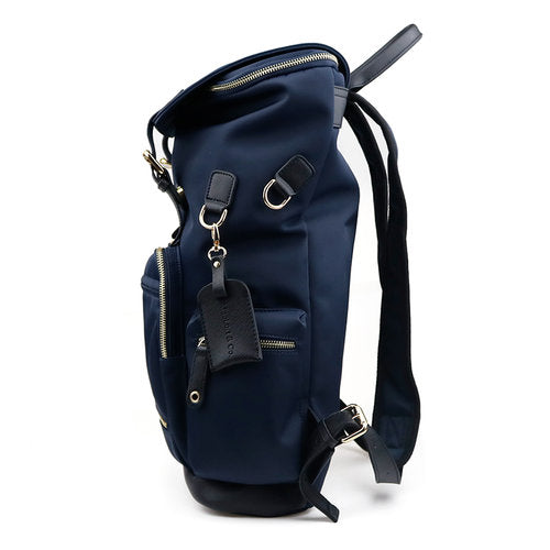 Maelort Ring Backpack in Navy with Black Leather Trim