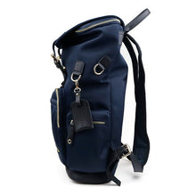 Load image into Gallery viewer, Maelort Ring Backpack in Navy with Black Leather Trim