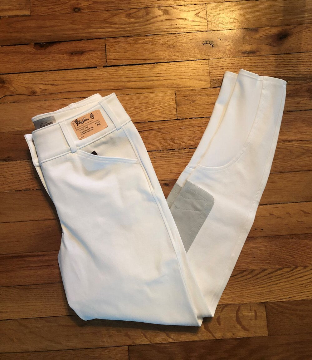 Tailored Sportsman Boot Sock Breeches in White