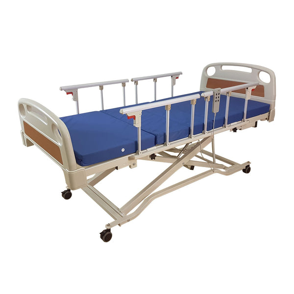 Electric Low Hospital Bed with 4 Side Rails - Lifeline Corporation
