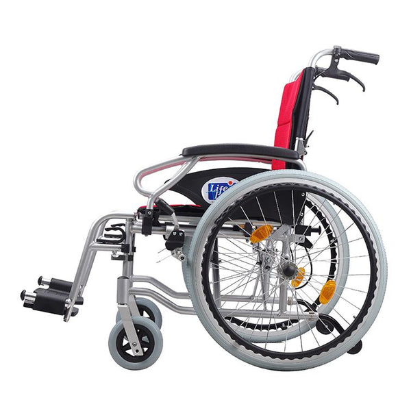 Aluminum Light Weight Detachable Wheelchair - Lifeline Corporation