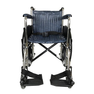 Chrome Standard Wheelchair with Safety Belt