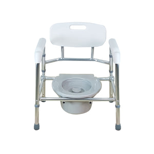 Aluminium Foldable Height Adjustable Stationary Commode - Lifeline Corporation