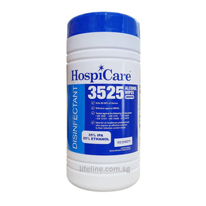 HospiCare 3525 Alcohol Wipes Canister - Lifeline Corporation