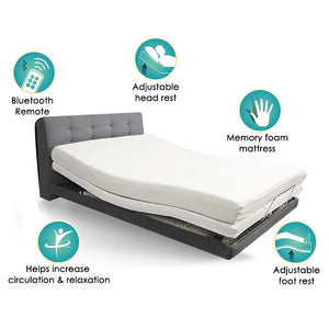 ALEGGIO Lifestyle Bed Single Size (without headboard) with Bluetooth Handset - Lifeline Corporation