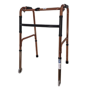 Aluminium Foldable Walking Frame with front castors - Lifeline Corporation