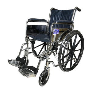 Chrome Detachable Wheelchair with Safety Belt - Lifeline Corporation
