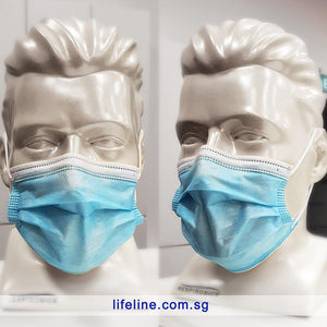 Disposable 3 Ply Face Mask - Lifeline Corporation