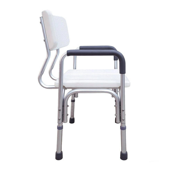 Height Adjustable Shower Chair with Arm Rest
