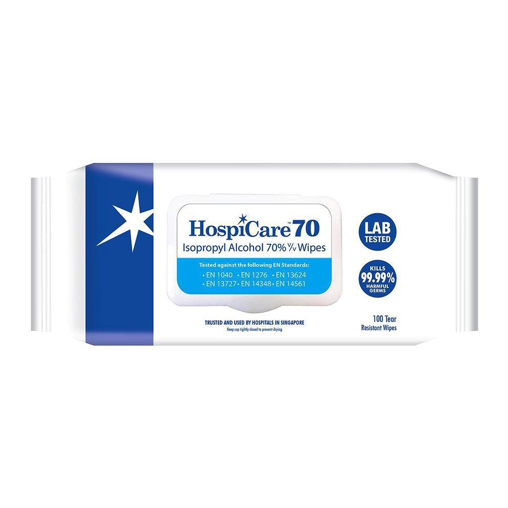 HospiCare 70% Isopropyl Alcohol Wipes