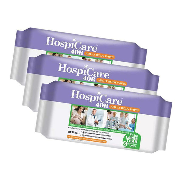 HospiCare 40R Adult Body Wipes - Lifeline Corporation