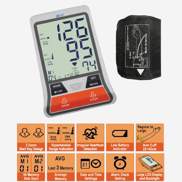 Jitron Digital Arm Blood Pressure Monitor - Lifeline Corporation