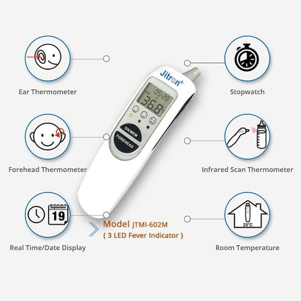 Jitron Ear & Forehead Thermometer 6 in 1 (602M) - Lifeline Corporation