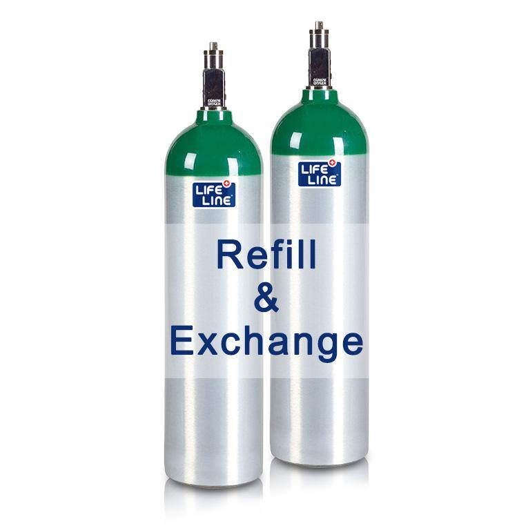 Oxygen Cylinder 415L Luxfer (Refill & Exchange)