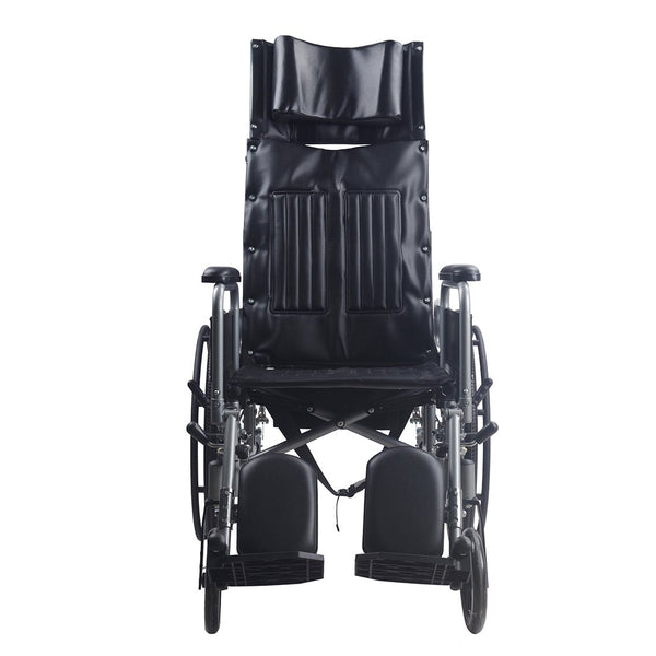 Powder Coated Recliner Wheelchair with Safety Belt - Lifeline Corporation