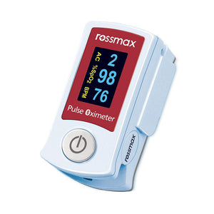 "Fingertip Pulse Oximeter - Rossmax with ""ACT"" SB210 - Lifeline Corporation"