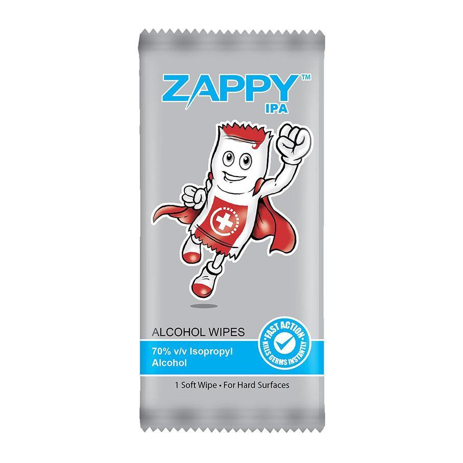 Zappy Alcohol Wipes 1s - Lifeline Corporation