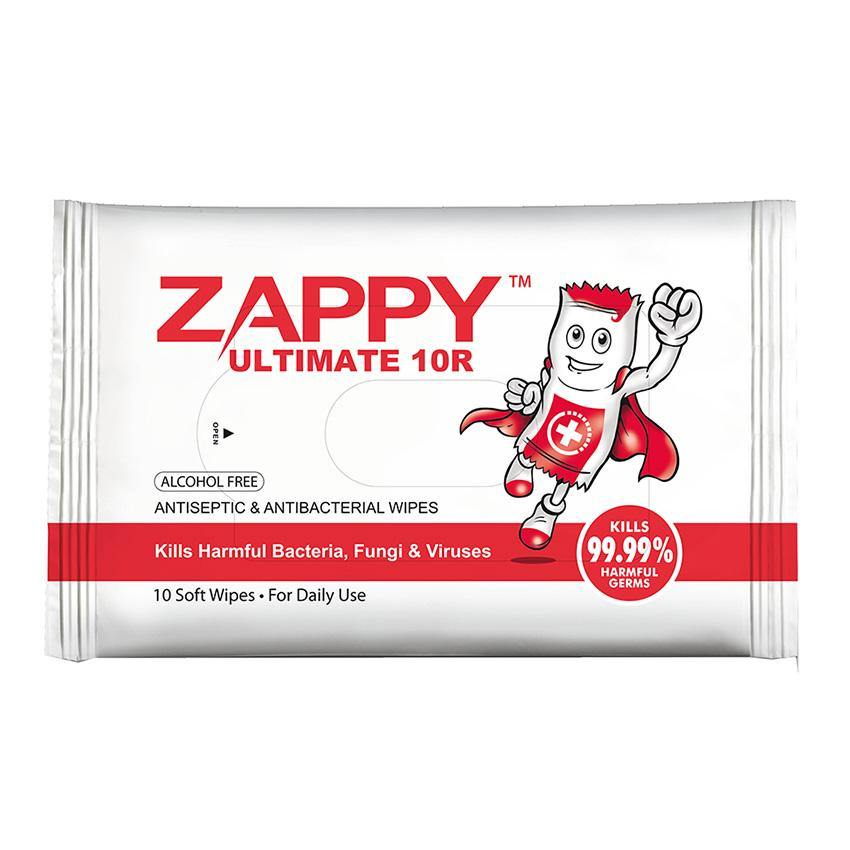 Zappy Ultimate 10R Antiseptic & Antibacterial Wipes 10s - Lifeline Corporation