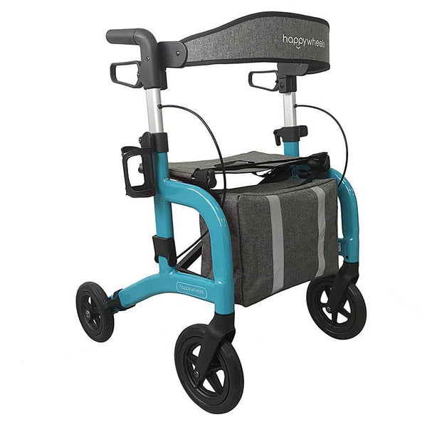 HappyWheels Lightweight Travel Rollator - Lifeline Corporation