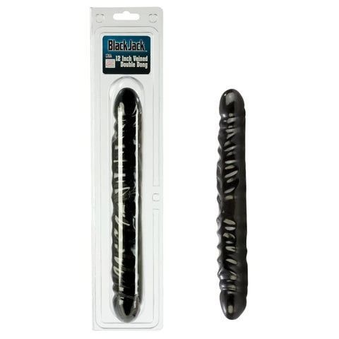 Black Jack Veined Double Dong - DILDOS