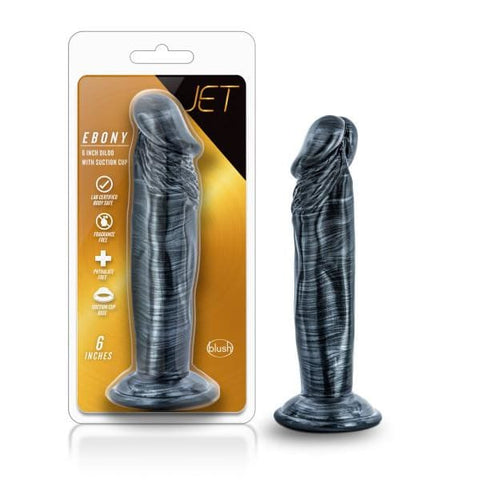 Jet Ebony Carbon Metallic Black Dildo - DILDOS