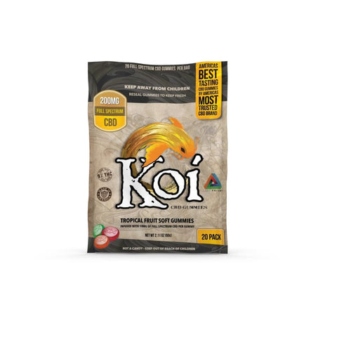 Image of Koi CBD Tropical Fruit Gummies - 200mg - 20 Pc. - Each - MADE IN USA