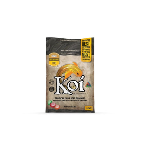 Image of Koi CBD Tropical Fruit Gummies - 60mg - 6 Pc. - Each - MADE IN USA