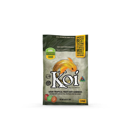 Image of Koi Sour Tropical Fruit Gummies - 60mg - 6 Pc. - Each - MADE IN USA