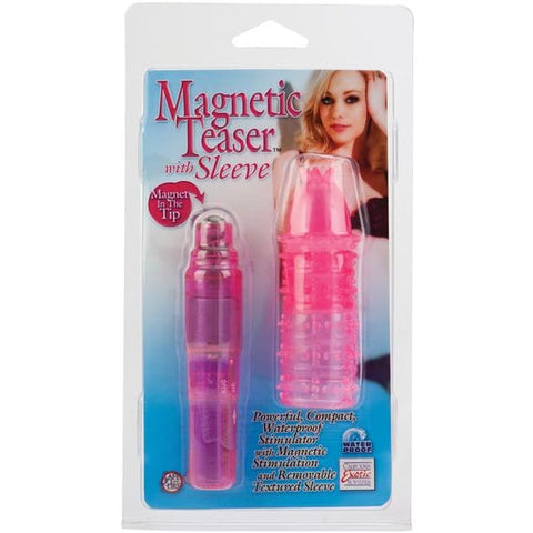 Magnetic Teaser W-silicone Sleeve - Pink - VIBRATORS