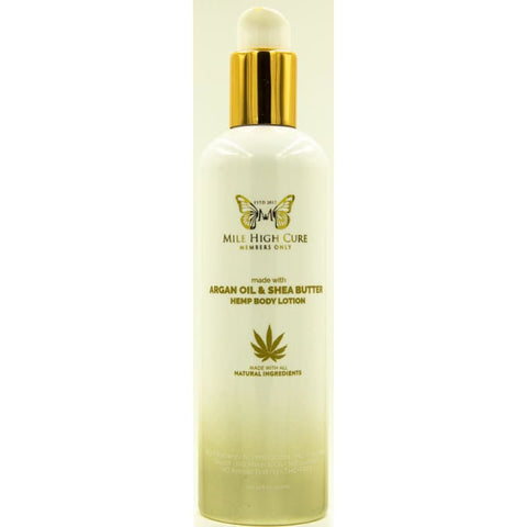 Mile High Cure Hemp Lotion With Argan Oil and Shea Butter 10 Fl Oz. - CBD