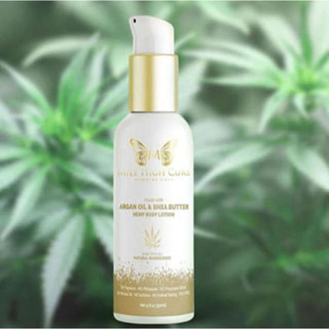 Mile High Cure Hemp Lotion With Argan Oil and Shea Butter 3.4 Fl Oz. - CBD