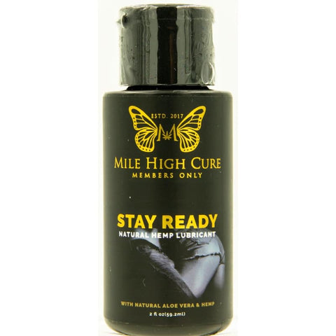 Image of Mile High Cure Stay Ready All Natural Aloe Vera Hemp Lubricant 2 Fl Oz - CBD