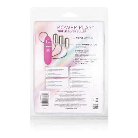 Power Play Triple Silver Bullet - BULLET VIBRATORS