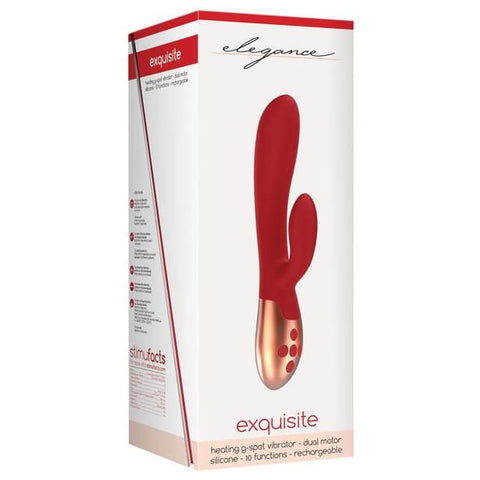 Shots Elegance Exquisite W-heating Technology - 10 Function Red - VIBRATORS