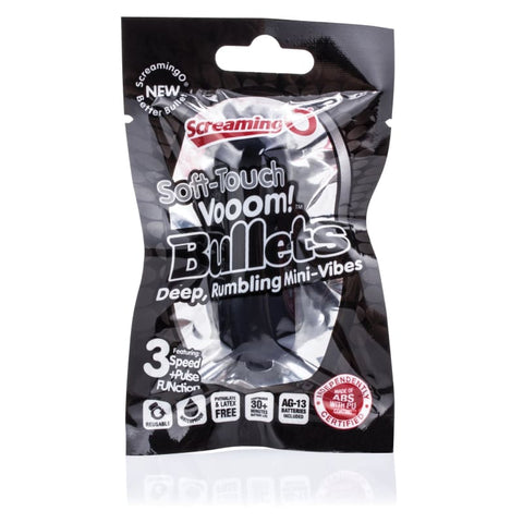 Soft-Touch Vooom! Bullets - Black - BULLET VIBRATORS