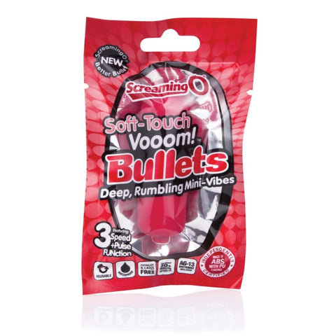 Soft-Touch Vooom! Bullets - Red - BULLET VIBRATORS