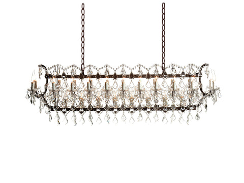 Crystal Rectangle Chandelier