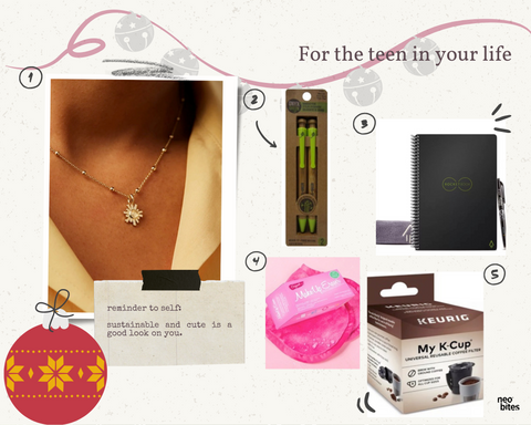 Sustainable gift guide for teen