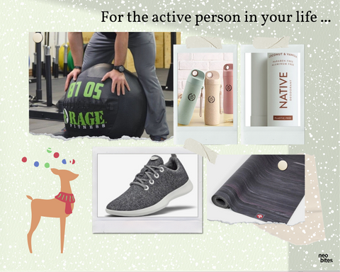 Sustainable gifts for active person