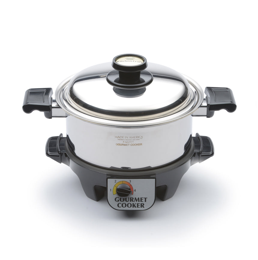 4 Quart Gourmet Slow Cooker Set - WaterlessCookware