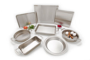 8 Piece Multi Ply Stainless Steel Bakeware Set - WaterlessCookware